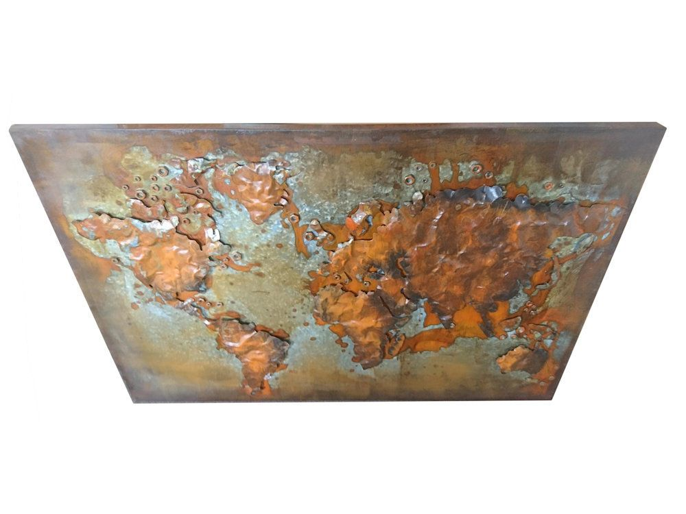 Abstract metal world map rusty world wall hanging welded world metal wall art gumiabroncs Images